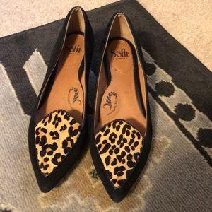 Leopard Calf hair ortholite leather 2 inch heels